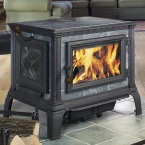 The Equinox Soapstone Wood Stove by Hearthstone