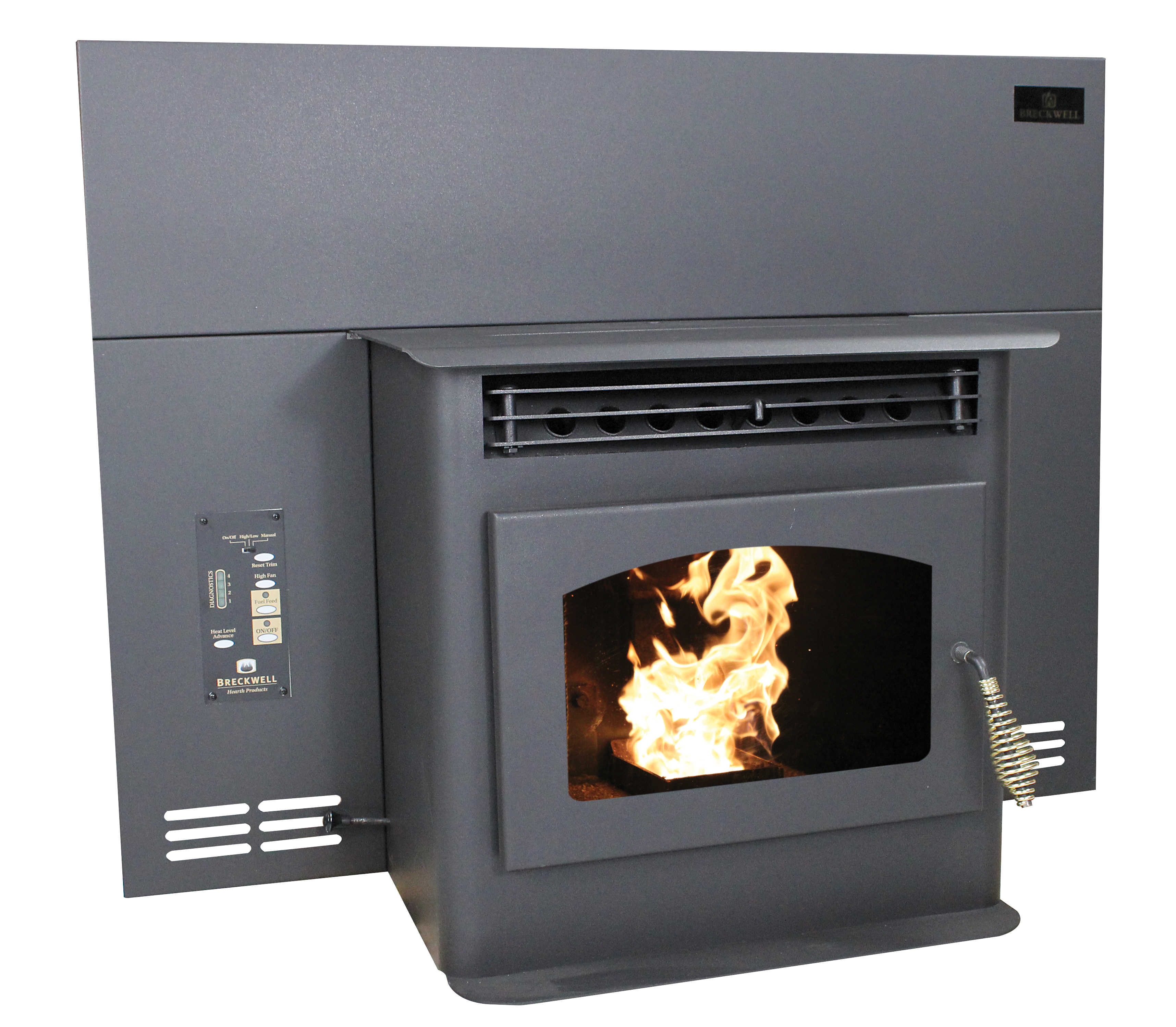 Breckwell Maverick SP22i Pellet Insert Stove w/Panel • Buck Stove on breckwell gas stoves, wood stove diagram, breckwell pellet stove replacement parts,