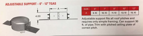 """Adjustable Roof Support 8"""""""