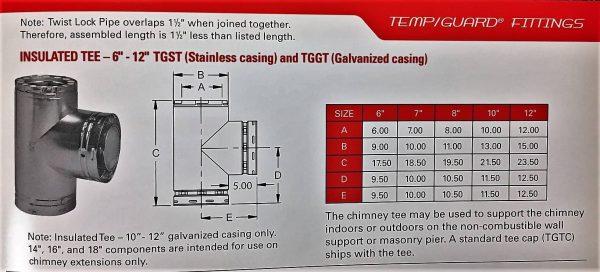 "Insulated Tee w/ Standard Cap 8"""