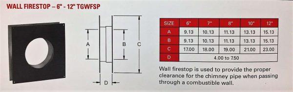 """Wall Firestop 8"""""""